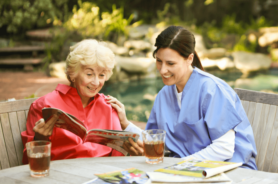 client with caregiver