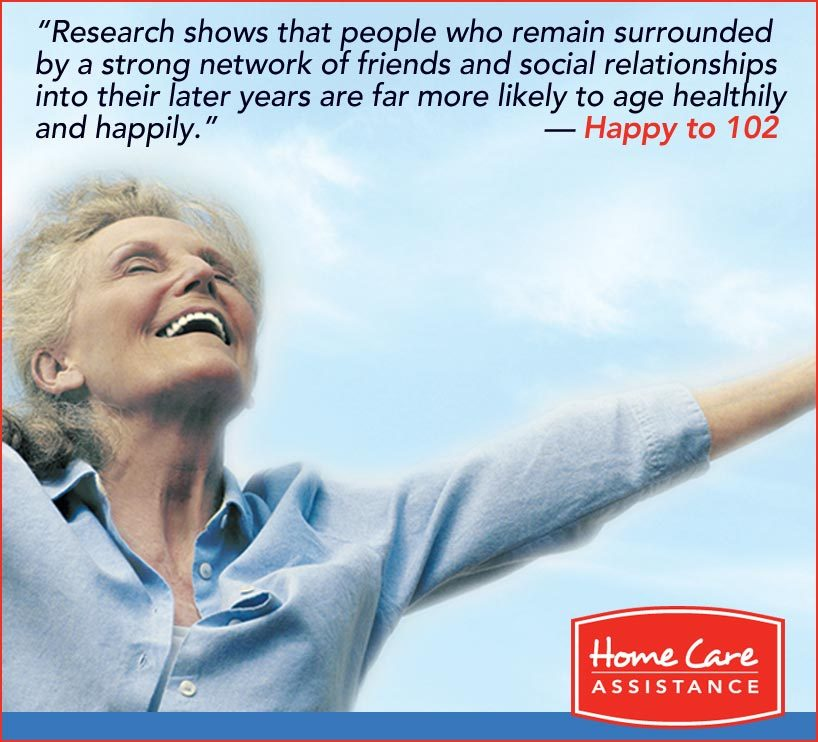 Happy to 102 quote on socializing