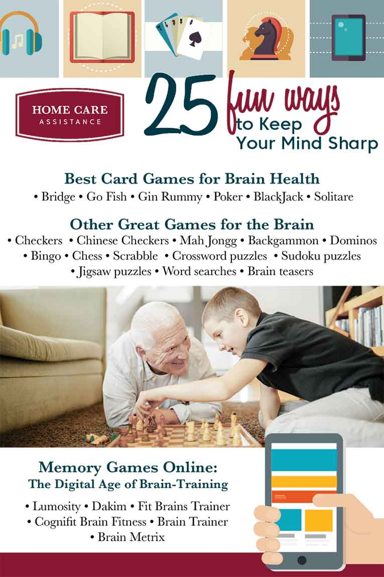 25 games for brain health infographic