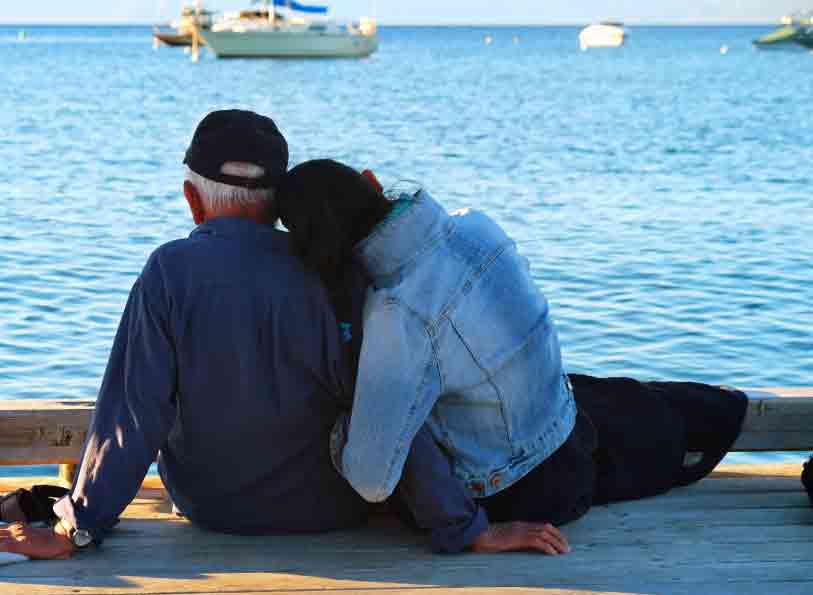 Photo: father and daughter on a dock
