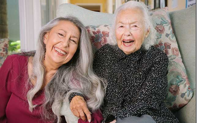 Carole and her mother Fran