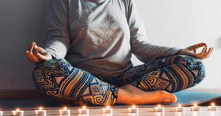 meditation with candles