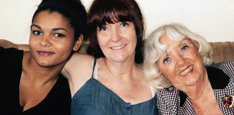 grandmother with daughter and granddaughter